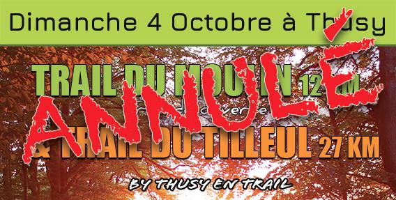 LE TRAIL DE THUSY 2020 ANNULÉ